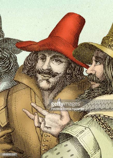 Guy Fawkes military and english plotter with Robert Catesby British politician and creator of The Conspiracy of the Powders foiled the November 5...
