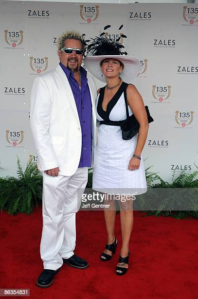 Guy Fieri and Lori Fieri arrive the 135th Kentucky Derby at Churchill Downs on May 2 2009 in Louisville Kentucky