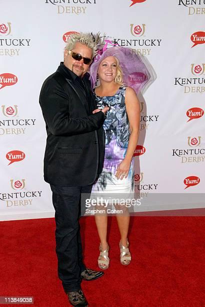 Guy Fieri and Lori Fieri attends The Kentucky Derby at Churchill Downs on May 7 2011 in Louisville Kentucky