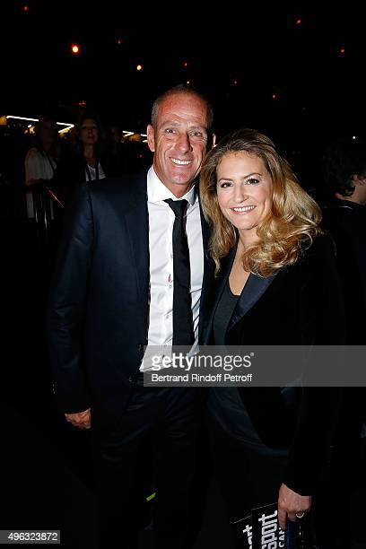 Guy Forget and Journalist Astrid Bard attend the BNP Paribas Tennis Master 1000 2015 on November 8 2015 in Paris France