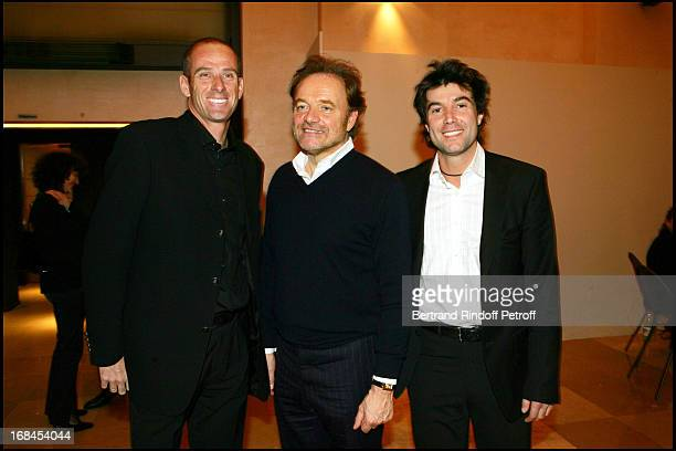 Guy Forget Guillaume Durand and Arnaud Casagrande at 100th Episode Of 'Campus' Of Guillaume Durant At Le Cafe De L'Homme Restaurant At The Trocadero