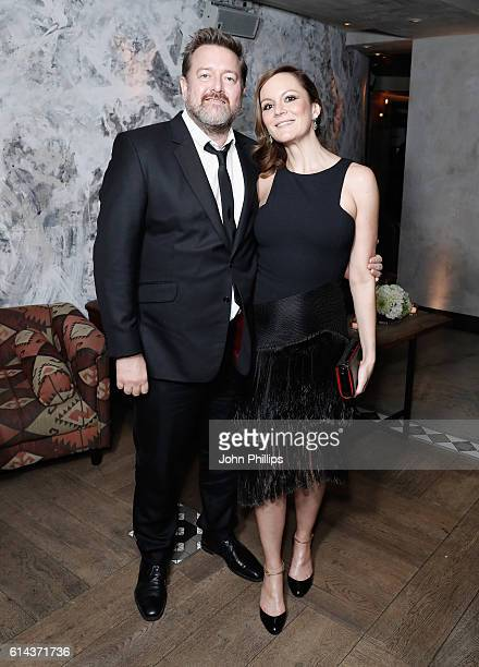 Guy Garvey and actress Rachael Stirling attend 'Their Finest' after party during the 60th BFI London Film Festival at on October 13 2016 in London...