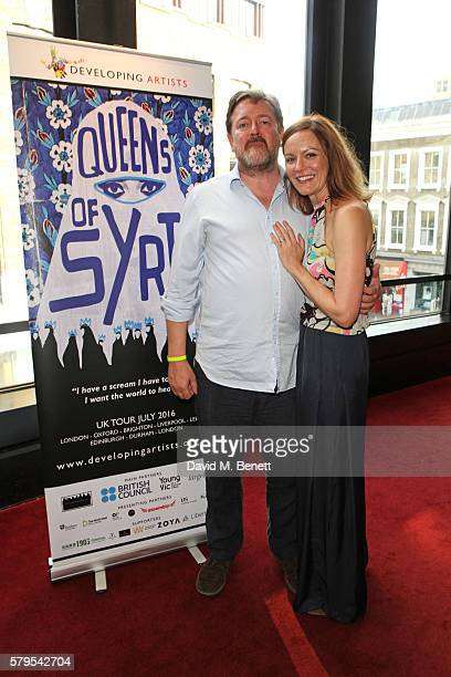 Guy Garvey and Rachael Stirling attend the West End Gala Performance of 'Queens Of Syria' a modern adaptation of Euripides' antiwar tragedy 'The...