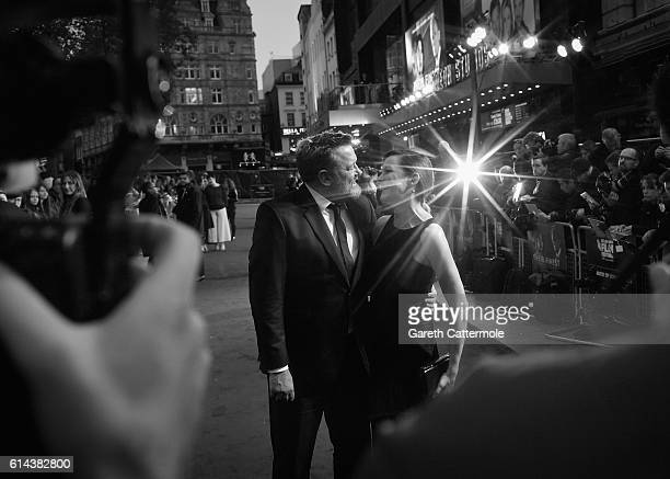 Guy Garvey and Rachael Stirling attend 'Their Finest' Mayor's Centrepiece Gala screening during the 60th BFI London Film Festival at Odeon Leicester...