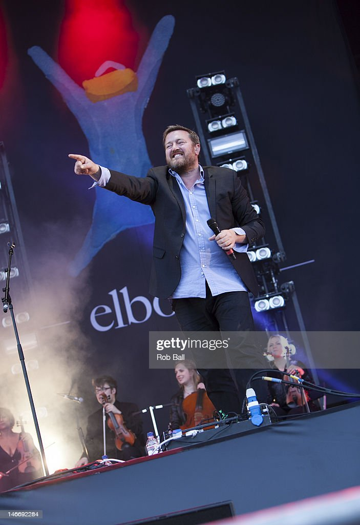 Guy Garvey from Elbow performs at the Isle Of Wight Festival at Seaclose Park on June 22, 2012 in Newport, Isle of Wight.