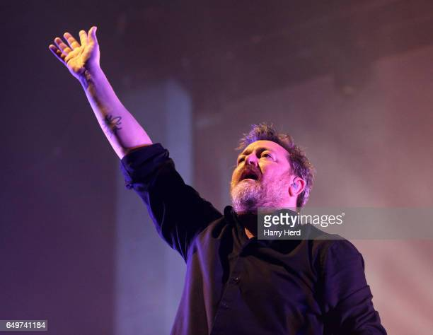 Guy Garvey of Elbow Performs At BIC Bournemouth on March 8 2017 in Bournemouth United Kingdom