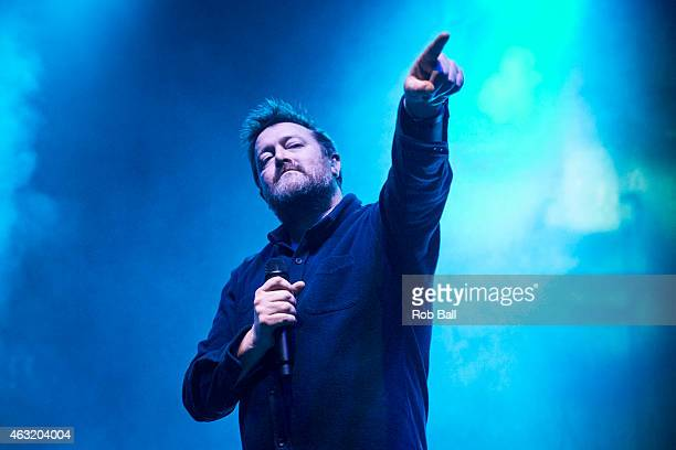 Guy Garvey of Elbow performs at Eventim Apollo on February 11 2015 in London England