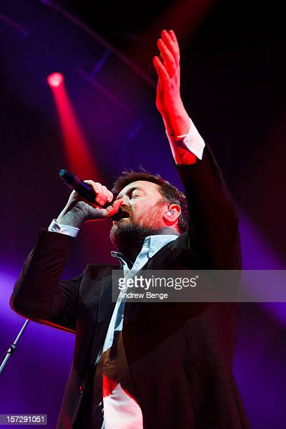 Guy Garvey of Elbow performs at Manchester Arena on December 1, 2012 in Manchester, England.