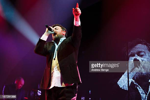 Guy Garvey of Elbow performs at Manchester Arena on December 1 2012 in Manchester England