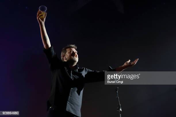 Guy Garvey of Elbow performs at The O2 Arena on March 7 2018 in London England