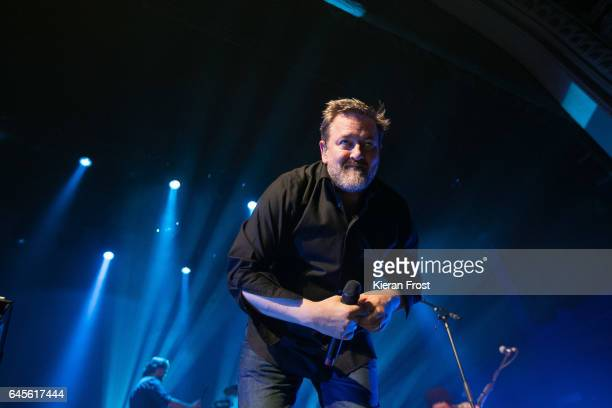 Guy Garvey of Elbow performs at the Olympia Theatre on February 26 2017 in Dublin Ireland