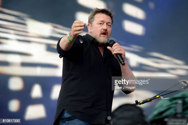 Guy Garvey of Elbow performs on stage at the Barclaycard Presents British Summer Time Festival in Hyde Park on July 8 2017 in London England
