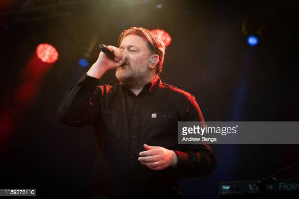 Guy Garvey of Elbow performs on stage at The Piece Hall on June 30 2019 in Halifax England