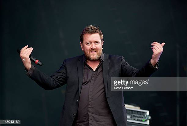 Guy Garvey of Elbow performs on stage during T In The Park Festival at Balado on July 8 2012 in Kinross United Kingdom