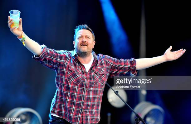 Guy Garvey of Elbow performs on The Pyramid Stage on Day 1 of the Glastonbury Festival at Worthy Farm on June 27 2014 in Glastonbury England