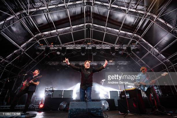 Guy Garvey of Elbow performs onstage at The Piece Hall on June 30 2019 in Halifax England