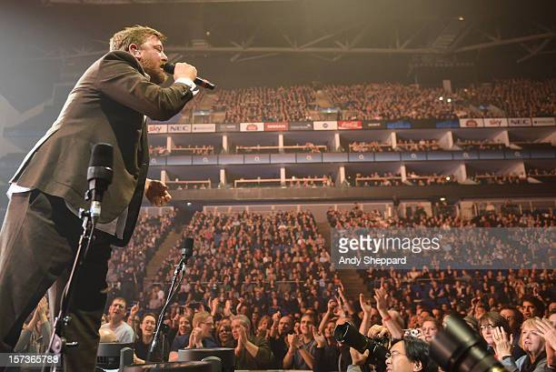 Guy Garvey of the band Elbow performs at 02 Arena on December 2 2012 in London England