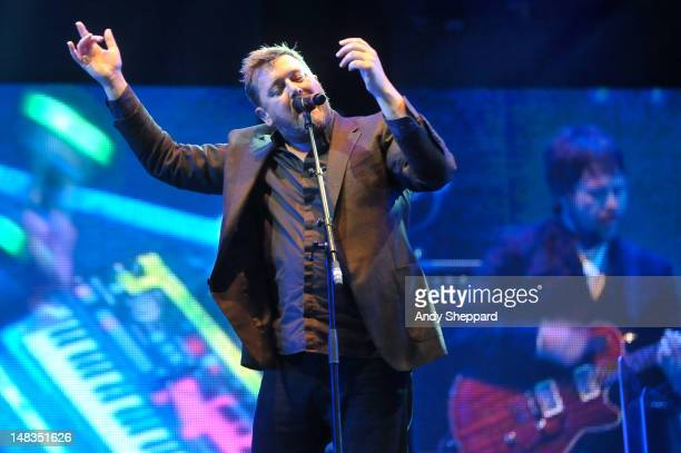 Guy Garvey of the band Elbow performs on stage during Latitude Festival 2012 at Henham Park Estate on July 14 2012 in Southwold United Kingdom