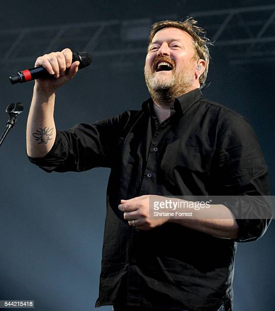 Guy Garvey performs as part of Sounds of the City at Castlefield Bowl on July 1 2016 in Manchester England