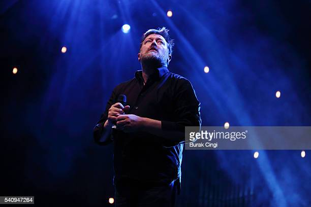 Guy Garvey performs live on stage at Guy Garvey's Meltdown at Royal Festival Hall on June 17 2016 in London England