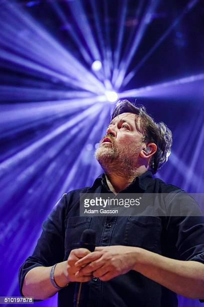 Guy Garvey performs on the third day of the BBC 6 Music Festival at Colston Hall on February 14 2016 in Bristol England