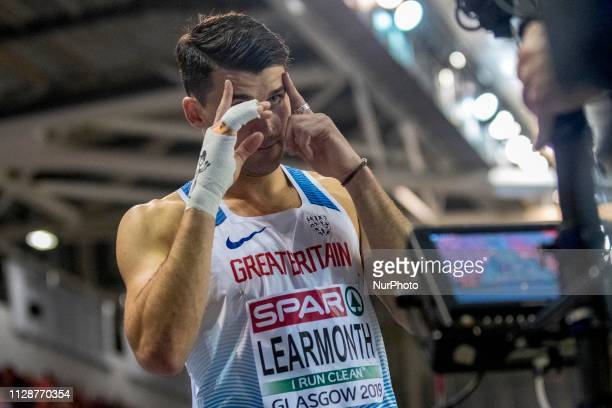 Guy GBR competing in the 800m Men event during day ONE of the European Athletics Indoor Championships 2019 at Emirates Arena in Glasgow Scotland...