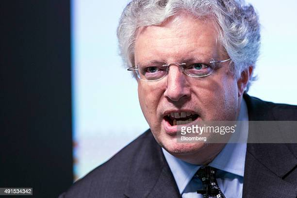 Guy Hands founder of Terra Firma Capital Partners speaks during the Bloomberg Markets Most Influential Summit in London UK on Tuesday Oct 6 2015 The...
