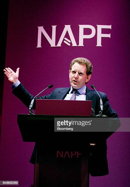 Guy Jubb head of corporate governance for Standard Life Investments speaks at the National Association of Pension Funds Investment Conference at the...