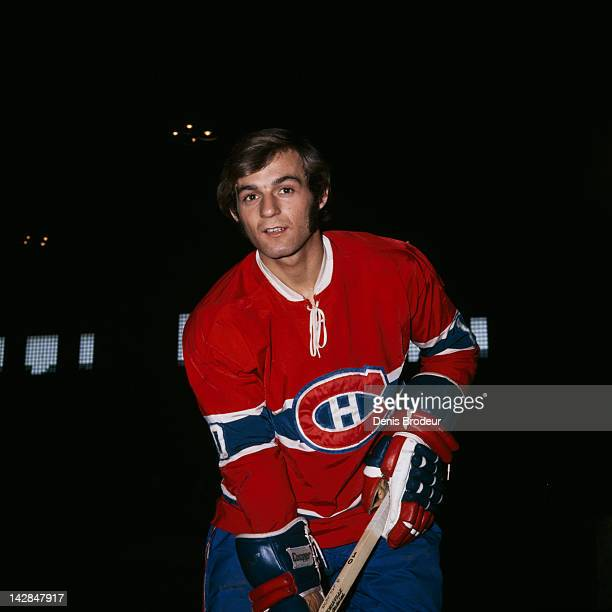 Guy Lafleur of the Montreal Canadiens poses for a photo Circa 1971 at the Montreal Forum in Montreal Quebec Canada