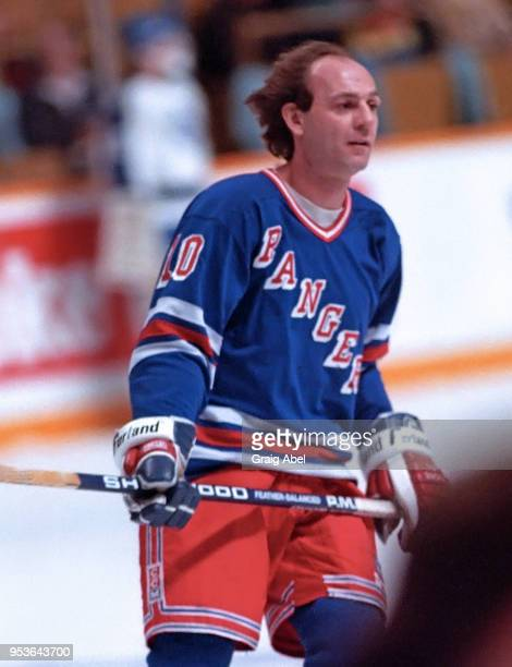 Guy Lafleur of the New York Rangers skates against the Toronto Maple Leafs during NHL game action on January 28 1989 at Maple Leaf Gardens in Toronto...