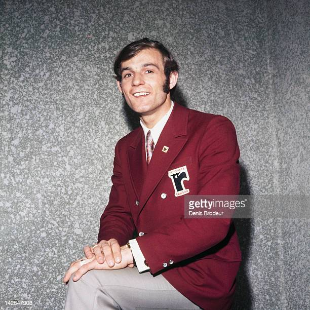 Guy Lafleur of the Quebec Ramparts poses for a photo Circa 1971 at the Montreal Forum in Montreal Quebec Canada