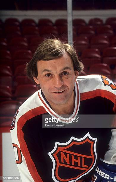Guy Lafleur of the Wales Conference and the Quebec Nordiques poses for a portrait before the 1991 42nd NHL AllStar Game against the Campbell...
