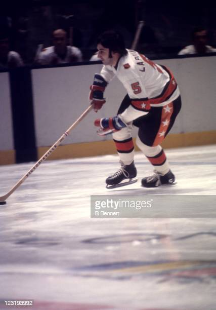 Guy Lapointe of the Montreal Canadiens and Team East skates with the puck during the 26th NHL AllStar Game against Team West on January 30 1973 at...