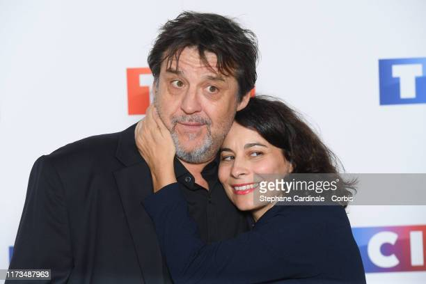 Guy Lecluyse and Cecile Rebboah attend the Groupe TF1 Photocall At Palais De Tokyo on September 09 2019 in Paris France