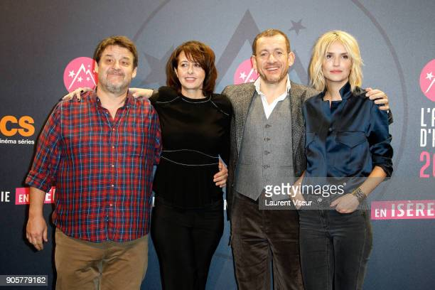 Guy Lecluyse Valerie Bonneton Dany Boon and Laurence Arne attend Opening Ceremony during the 21st L'Alpe D'Huez Comedy Film Festival on January 16...