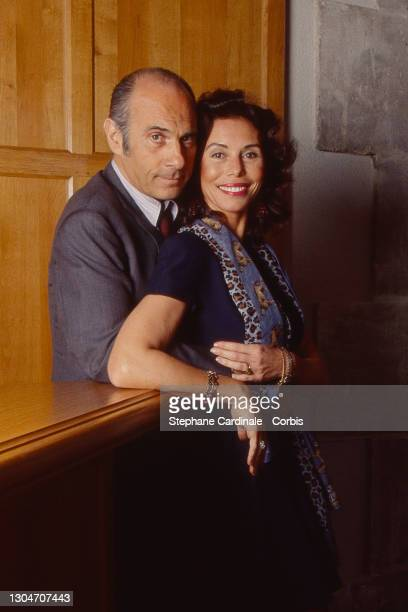 Guy Marchand and Beatrice Chatelier attend the 13th Cognac Crime Film Festival on Avril 9, 1995 in Cognac, France.