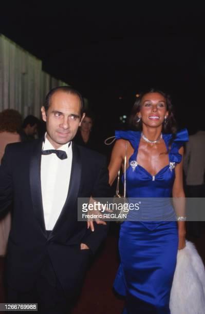 Guy Marchand et son épouse Béatrice à la soirée des 7 d'or le 26 octobre 1985 à Paris, France.