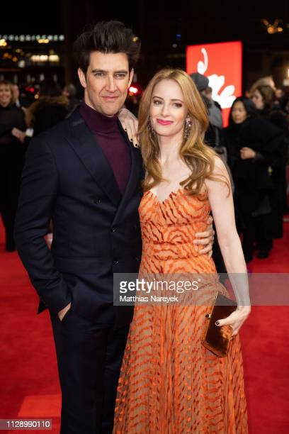 Guy Nattiv and Jaime Ray Newman attend the Skin premiere during the 69th Berlinale International Film Festival Berlin at Zoo Palast on February 11...