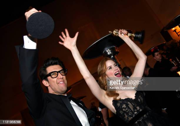 Guy Nattiv and Jaime Ray Newman winners of the Short Film award for 'Skin' attend the 91st Annual Academy Awards Governors Ball at Hollywood and...