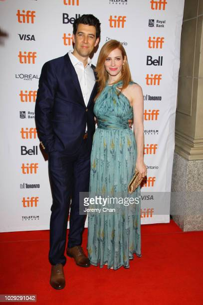 Guy Nattiv and Jamie Ray Newman attend the Skin premiere during 2018 Toronto International Film Festival at Winter Garden Theatre on September 8 2018...