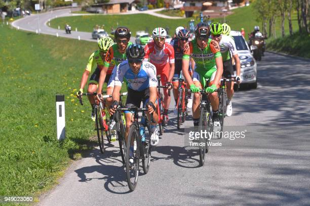 Guy Niv of Israel and Team Israel Cycling Academy / Simone Andreetta of Italy and Team Bardiani - CSF / Manuel Senni of Italy and Team Bardiani - CSF...