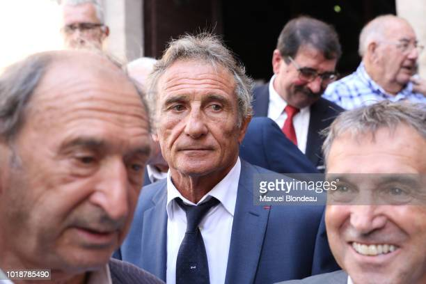Guy Noves is seen at the burial of Pierre Camou in Saint Jean Pied de Port during the Funeral of former rugby player Pierre Camou on August 18 2018...