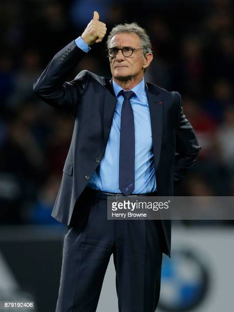 Guy Noves of France during the international rugby union match between France and Japan at U Arena on November 25 2017 in Nanterre France