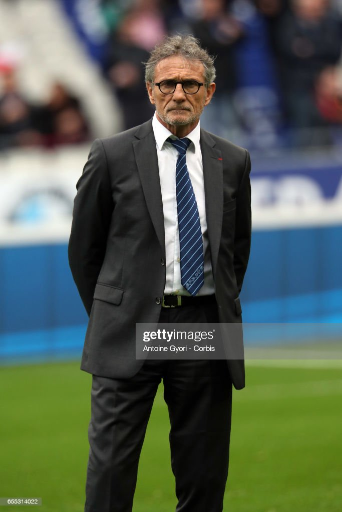 Guy Novès, the head coach of France during the RBS Six Nations match between France and Wales at the Stade de France on March 18, 2017 in Paris, France.