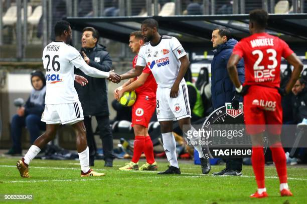 Guy of Amiens and FOFANA Gussouma of Amiens during the Ligue 1 match between Amiens SC and Montpellier Herault SC at Stade de la Licorne on January...
