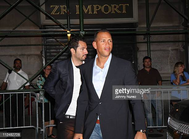 Guy Oseary and Alex Rodriguez attend the 2008 MLB AllStar Week's Alex Rodriguez party at the 40/40 Club on July 14 2008 in New York City