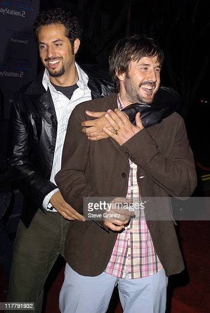 Guy Oseary and David Arquette during Playstation 2 Offers A Passage Into The Underworld Arrivals at Belasco Theatre in Los Angeles California United...