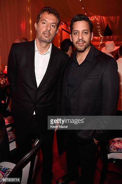 Guy Oseary and David Blaine attend An Evening of Music Art Mischief and Performance to benefit Raising Malawi presented by Madonna at Faena Forum on...