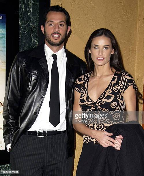 Guy Oseary and Demi Moore during Swept Away Screening at Vista Theatre in Los Angeles California United States