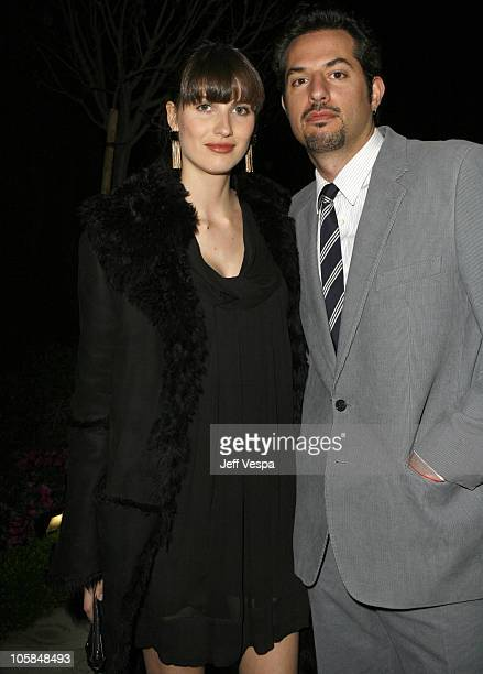 Guy Oseary and guest during Giorgio Armani Prive in LA Inside at Green Acres in Los Angeles California United States